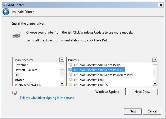 How To Copy Printer Drivers From Windows 7