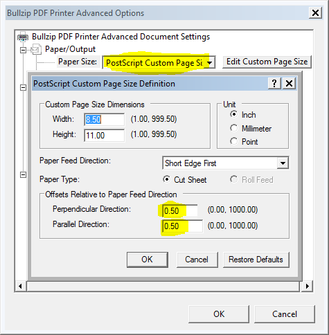 how to set margin in pdf file
