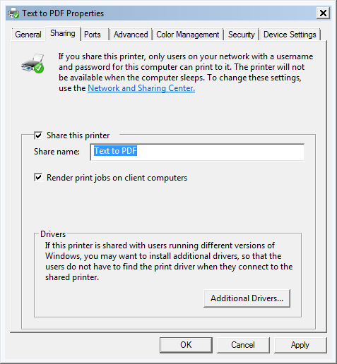 Creator virtual printer pdf